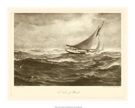 Gale of Wind Framed Art Print