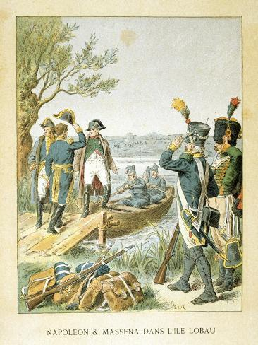 Napoleon and Massena on the Island of Lobau, May 1809 Giclee Print