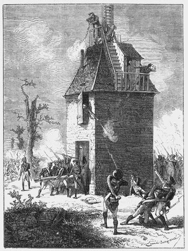 Napoleon's Troops Defending a Telegraph Tower, C1815 Giclee Print