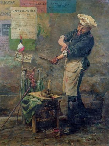 Rat Seller During the Siege of Paris, 1870 Giclee Print