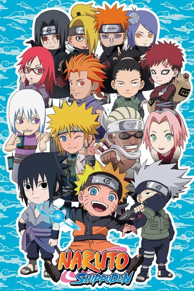 Naruto shippuden chibi characters prints allposters privacy preference centre reheart Gallery