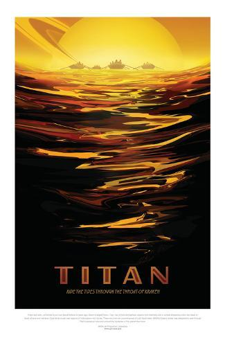 NASA/JPL: Visions Of The Future - Titan Pôster