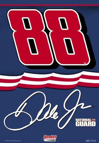 Nascar Dale Jr. #88 Nat Guard 2-Sided House Banner Flag