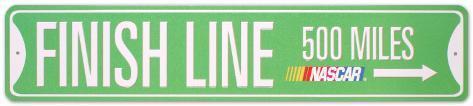 Nascar- Finish Line Tin Sign
