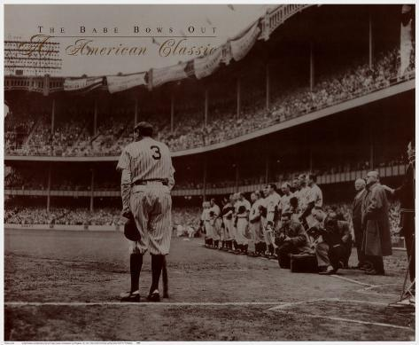 The Babe Bows Out, 1948 Art Print