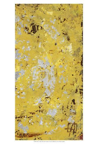 Silvery Yellow II Art Print