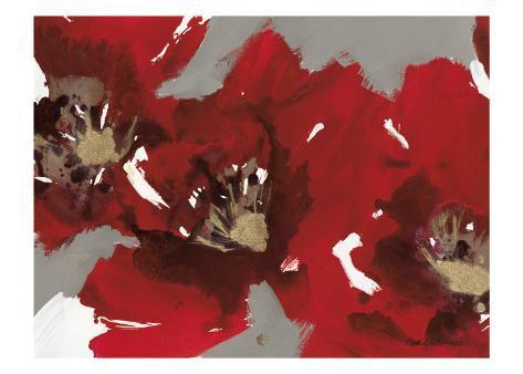 Red Poppy Forest I Art Print