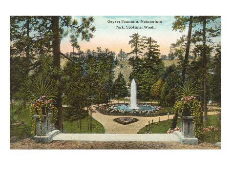 Natatorium Park, Spokane, Washington Art Print