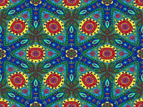 Kaleidoscope Color Pattern Art Print