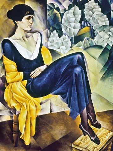 Anna Akhmatova (1889-1967) Stampa giclée