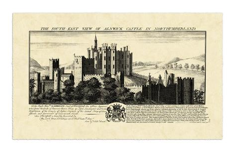 Vintage Alnwick Castle Giclee Print