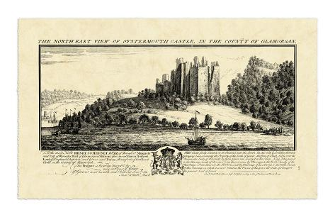 Vintage Oystermouth Castle Giclee Print