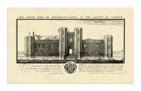 Vintage Wingfield Castle Giclee Print