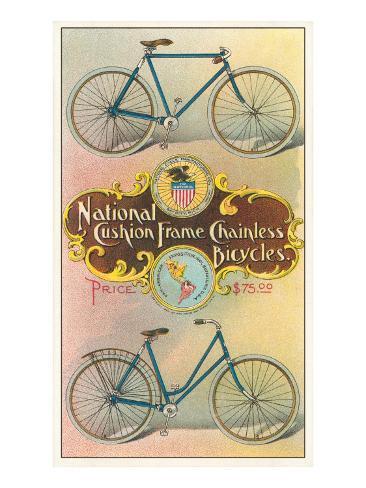 National Cushion Frame Chainless Bicycle Art Print