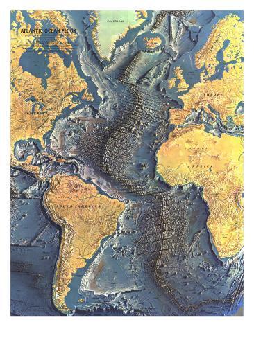 1968 atlantic ocean floor map posters by national geographic maps 1968 atlantic ocean floor map gumiabroncs Choice Image