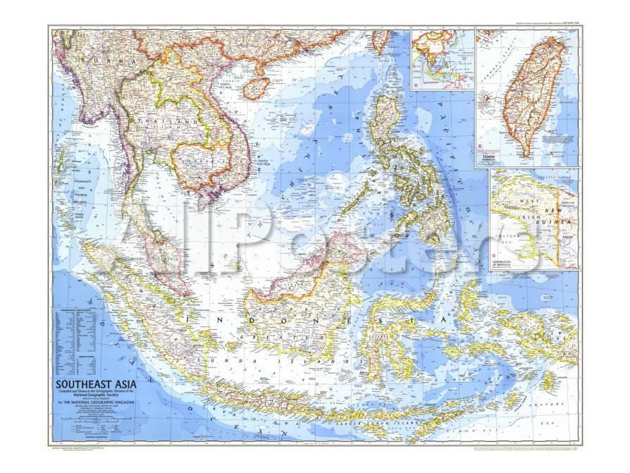 1968 Southeast Asia Map