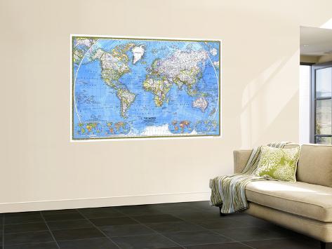 1981 World Map Wall Mural