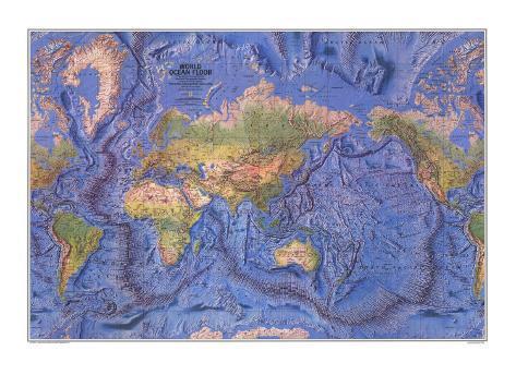 1981 world ocean floor map