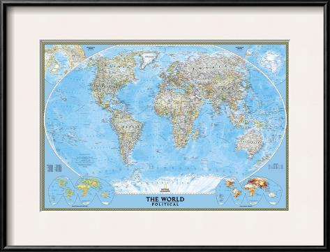 World political map print by national geographic maps at world political map gumiabroncs Choice Image
