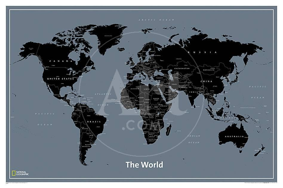 National geographic modern world map psters en allposters gumiabroncs Images