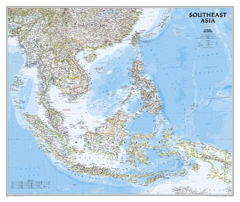national geographic southeast asia map poster