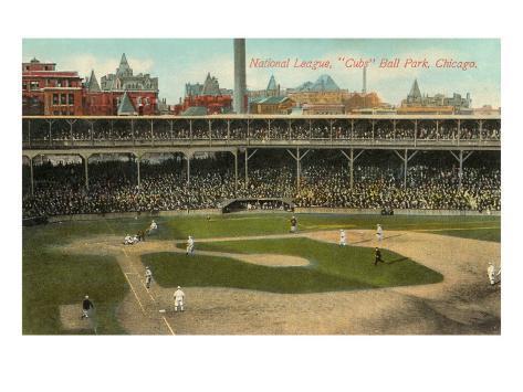 National League, Cubs Ball Park, Chicago Art Print