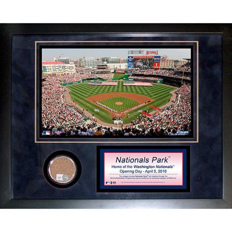 Nationals Park Mini Dirt Collage Framed Memorabilia