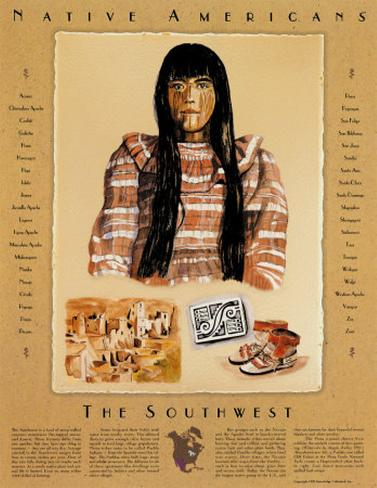 Native American Cultures - The Southwest Art Print