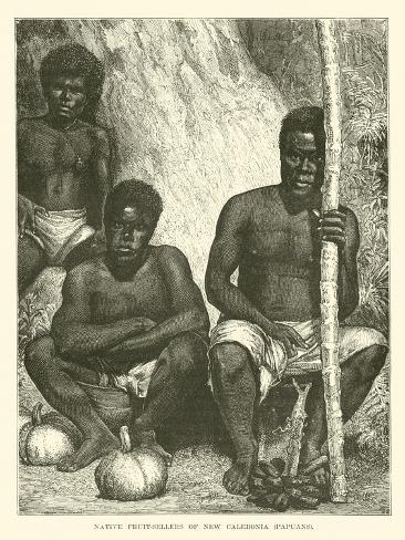 Native Fruit-Sellers of New Caledonia, Papuans Giclée-vedos