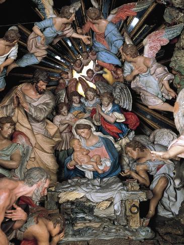 Nativity, Nativity Scene of Marquis of Belas, Work by Machado De Castro Lámina giclée