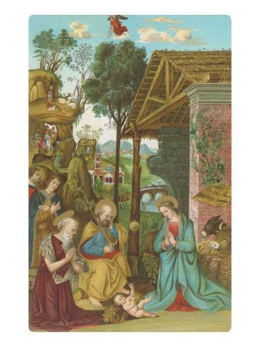 Nativity Scene by Pinturicchio, Rome Art Print