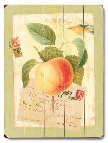 Natural Wonders-Peach Wood Sign