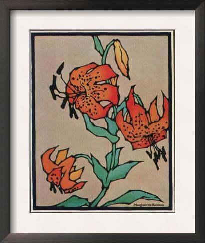 Nature Magazine - Sketch of Tiger Lilies, c.1930 Framed Art Print