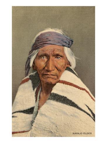 Navajo Elder Art Print