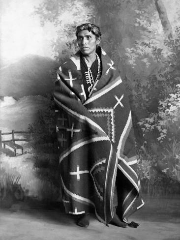 Navajo Man, C1906 Stretched Canvas Print