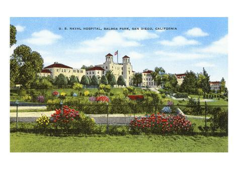 Navy Hospital, Balboa Park, San Diego, California Art Print
