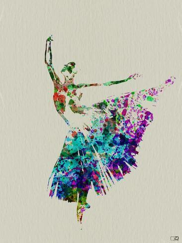 Ballerina Watercolor 5 Art Print