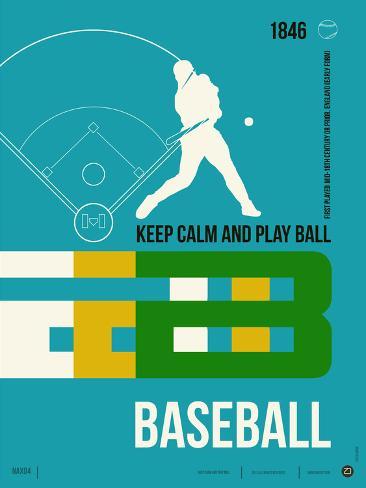 Baseball Poster Plastic Sign