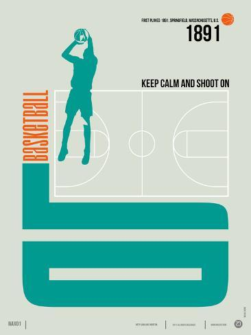 Basketball Poster Art Print