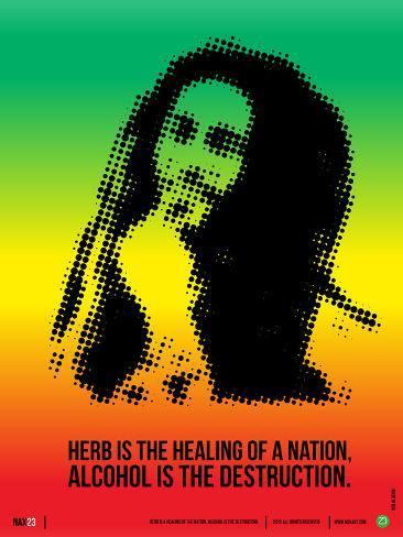 Bob Marley Poster Plastic Sign