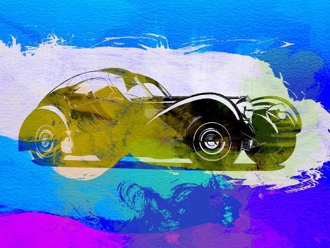 Bugatti Atlantic Watercolor 2 Art Print