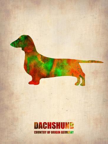 Dachshund Poster 2 Art Print