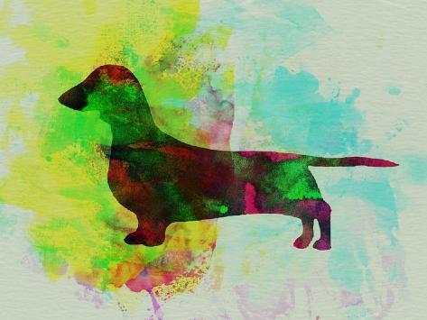 Dachshund Watercolor Art Print