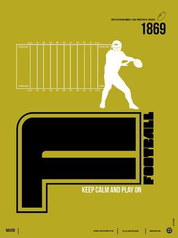Football Poster Premium Giclee Print