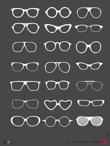 Glasses Poster II Premium Giclee Print