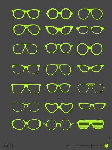 Glasses Poster III Premium Giclee Print