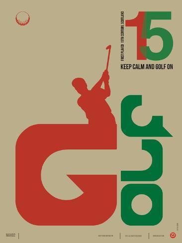 Golf Poster Art Print