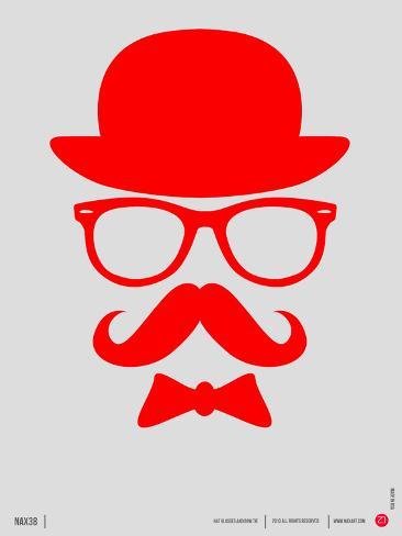 Hat, Glasses, and Bow Tie Poster II Targa di plastica