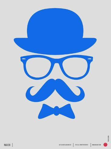 Hat, Glasses, and Bow Tie Poster III Art Print