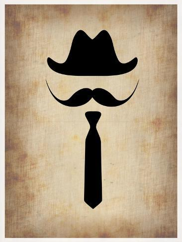 Hat Glasses and Mustache 2 Art Print